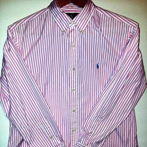 Ralph Lauren Pink & White Shirt 16.5 32/33